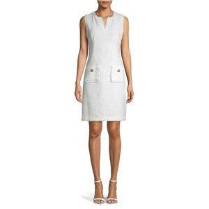 Karl Lagerfeld BLANC Tweed Dress NWT